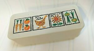 Loma Industries Vintage 1970's Plastic Butter Dish with Cover Chicken Vegetables