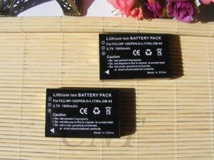 2 PACK Battery NP-120 / 3.7V / 1800 mAh // for Fuji FinePix F10 F11 Zoom