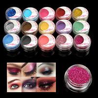 15 Pots Satin Glitter Mineral Pearl Loose Eyeshadow Shadow Dust Pigment  Powder