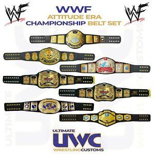 WWE WWF Attitude Era Belts Full Custom Set x 7 for Mattel/Jakks/Elite Figures