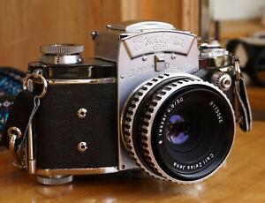 Exakta VX IHAGEE DRESDEN camera w/ Carl Zeiss Jena Tessar 50mm F2.0 Working