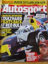 AUTOSPORT MAGAZINE DEC 2004 MCNISH AUDI DTM FLYER COULTHARD FERRARI BREAK UP