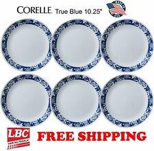 Corelle true blue 6PC dinner plate set 10.25inch NOT pyrex corningware
