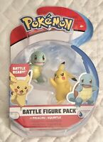 2018 Pokemon Pikachu and Squirtle Battle Figure Pack - New