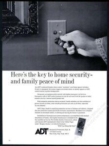 1968 ADT A.D.T. home burglar alarm system photo vintage print ad