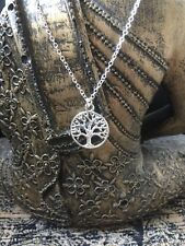 Sterling Silver 925 Necklace with Silver Plated Tree Of Life Charm