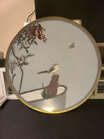 Japanese cloisonne charger with a bird attributed to Namikawa Sosuke