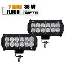 """2x 7inch 36W LED Work Light Bar Flood Offroad ATV Fog Truck Lamp 4WD 12V 6"""" Lamp"""