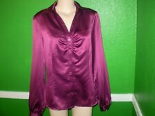 NEW NWT WORTHINGTON LIQUID SATIN SHIRT TOP DRESS SUIT BLOUSE 12