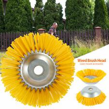 Solid Steel Wire Wheel Garden Weed Brush Head Lawn Mower Trimmer Accessories US