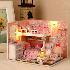 Kits DIY Wood Miniature Dollhouse With Furniture Doll house Room Angel Dream New