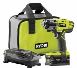 "RYOBI P1833 Cordless Impact Wrench 3 Speed 1/2"" 18V Kit w/ Battery & Charger NEW"