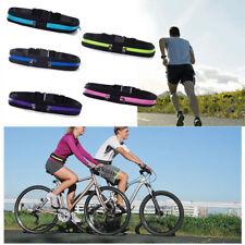 Sport Double Zipper Pack Belly Waist Bum Bag Fitness Running Jogging Pouch Belt