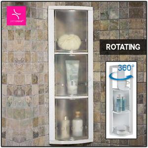 Corner Shelf Rotating Triangle Rack Bathroom Caddy Storage Holder Tidy Organizer