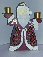 Partylite Old St Nick 3N1 Votive/Candle Metal Holder Santa Claus Christmas P7706