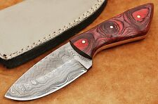Custom Handmade Ladder Damascus Steel Skinner Knife DE334 Micarta Handle