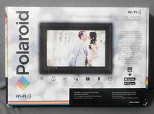 "Open Box Polaroid 10"" Touchscreen Digital Picture Frame Black Woodgrain Frame"
