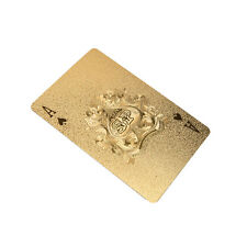 Golden Playing Cards Deck Magic card Plastic foil poker Waterproof Cards L8T V