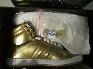 Adidas Top Ten Hi Star Wars C-3PO Size 9 Mens Gold Shoes