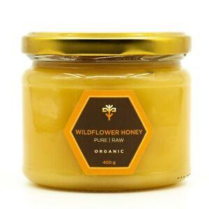 Wildflower ORGANIC RAW Honey NATURAL PURE healthy sweetener unprocessed 400g