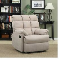 NEW ProLounger Wall Hugger Microfiber Biscuit Back Recliner Color Khaki