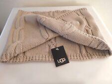 New UGG Australia Heavy Knit Twisted Snood Metallic Scarf - Style #18380