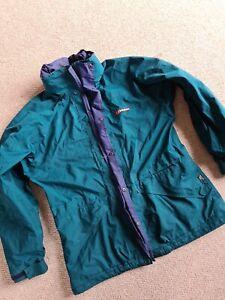 Womans Ladies Berghaus Size 14 Green Blue Gore-tex Coat Jacket Hooded Waterproof