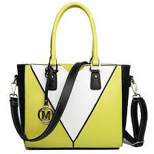Ladies Designer Faux Leather Handbag V-Shape Shoulder Tote Bag