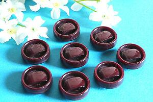 "1382B Stunning Buttons Vintage "" Martingale "" Burgundy Lot 8 Buttons Ép. 1970/80"