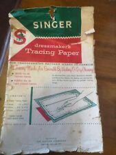 Singer Dressmakers Tracing Paper complete pack