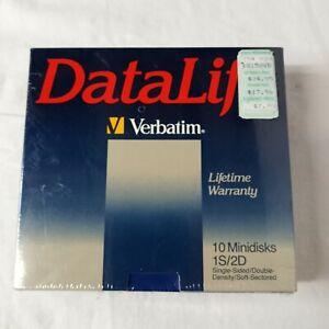 VTG Datalife Verbatim Single Sided/DD/SS MINIDISKS 525-01 10 Minidisks 1984 NOS