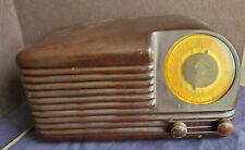 Lovely Mottled Reddish Brown Art Deco BAKELITE RADIO by Olympic