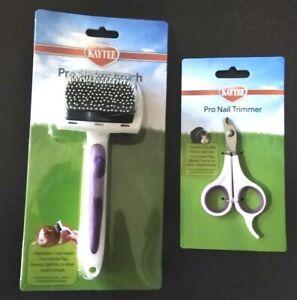 Ferret/Guinea-Pig/Rabbit Nail Trimmer & Brush Kit Soft Tip Brush for Safety