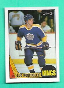 (1) LUC ROBITAILLE 1987-88 O-PEE-CHEE # 42 KINGS  ROOKIE NM-MT CARD (V4121)