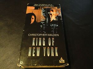 King Of New York Christopher Walken VHS Tested-Buy 2 Or More VHS-No Extra Ship $