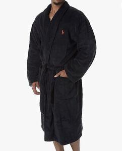 Polo Ralph Lauren Microfiber Shawl Collar Plush Robe Black Size L/XL.✨