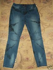 """Women's """"American Star"""" Distressed Stretch Ankle Jeans Made In USA Sz 5 NEW"""