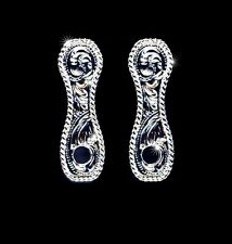 "Western Bright Silver Concho Post Earring Adapters 1 1/4"" X 3/8"""