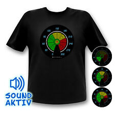 Party Equalizer LED Shirt Musik aktiviert Auto Fun Shirt Party Leuchtet Autofan