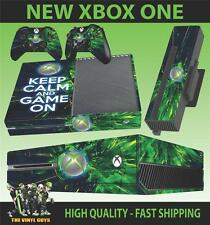 XBOX ONE Console Autocollant Keep Calm and Jeu on Revêtement & 2 Pad Stickers