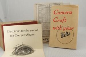 Welta Weltur 6x6 Red Box with original 1938 pamphlet & literature