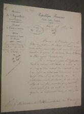 Coutellerie. Lettre Importation Machine à repasser les Couteaux. M. Creton.1851