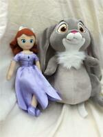"""Talking 10"""" Clover from 2013 Sofia the First soft toy and 8"""" Sofia VGC g3"""