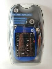 GE Wireless USB Number Pad (Factory Sealed) Keyboard attachment Retractable New