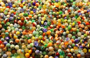 NEW SET OF 182 PCS GLASS MARBLES IN Jar 4 COLOURS Marble run game16mm