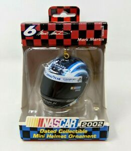 New Trevco Viagra Nascar Mark Martin #6 Helmet 2002 Racing Mini Ornament FP20