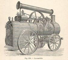 B1971 Locomobile - Incisione antica del 1928 - Engraving