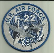 U.S.AIRFORCE F-22 RAPTOR FIGHTER AIRCRAFT PATCH USAF PILOT CREW AVIATION USA