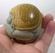 #7 144g Natural Jasper Hand Carved Sea Turtle Carving Specimen 5 1/8 oz 57mm