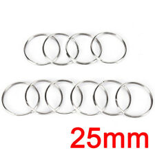 10pcs Steel Keyring Split Key Rings Nickel Hoop Ring Plated Steel Loop
